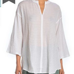 Eileen Fisher    Stand Collar Box Tunic NW…